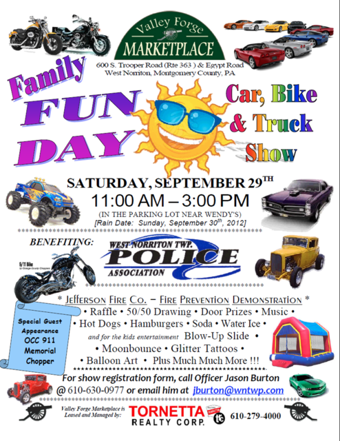 9th annual Family Fun Day & Car, Bike & Truck Show